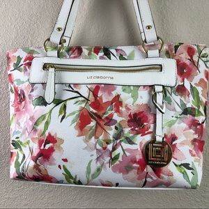 Liz Claiborne, Summer White & Pink Floral Bag